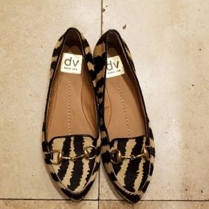 New leopard print real fur Dolce vita shoes size 6
